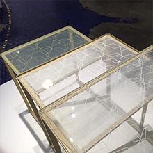 絹ガラス ネストテーブル 永遠の石