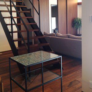 積水ハウス住宅コンソール絹ガラステーブル