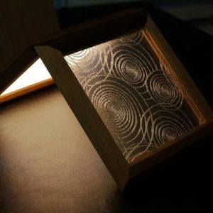 絹アクリル 渦巻のライティング