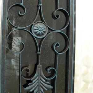 絹ガラス Silk Glassに封入した丹後織物の紋紗