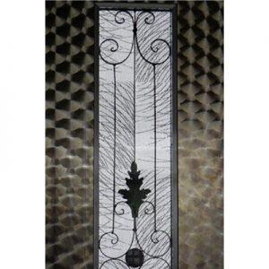 絹ガラスSilk Glassに封入した丹後織物の紋紗