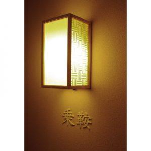 絹障子・絹シート製の三筋格子行灯