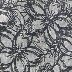絹を封入したミラー合わせの 桜重ね(黒染)
