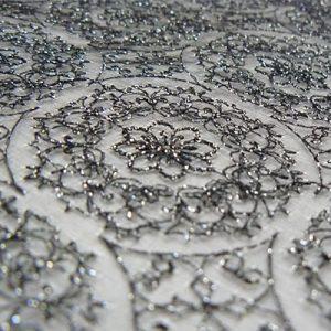 法相華紋の絹シート