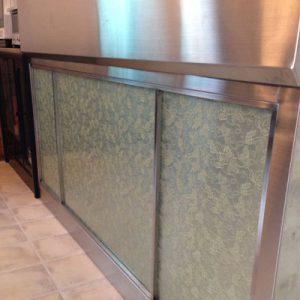 絹ガラスSilkGlassのオーダーキッチン面材