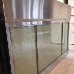 絹ガラスSilkGlassによるオーダーキッチン面材