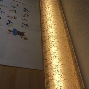 絹シート・絹障子の LEDスリット行灯