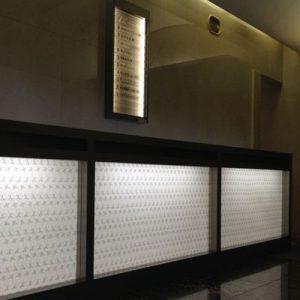 絹障子・絹シートの光カウンター例