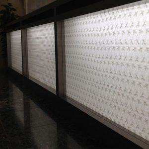 絹障子・絹シートの光カウンター事例