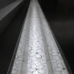 絹障子・絹ガラスの光スリット例