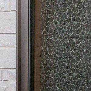 絹ガラスSilkGlass桜重ねの個人住宅使用例