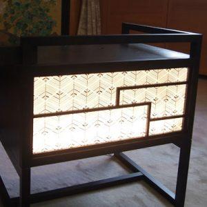 絹シートの立礼式ティーテーブル