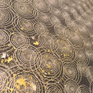 金彩絹ガラス製のホテルカウンター