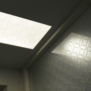 光天井の永遠の石とパーテーションの永遠の石の絹ガラス