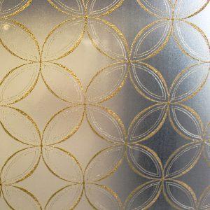 透け過ぎないタペストリー絹ガラスの使用例です。