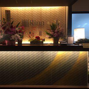 金彩絹ガラス使用の光カウンター
