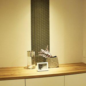 ダイワハウスのコスモスイニシア様絹ガラスの麻の葉文様をご使用