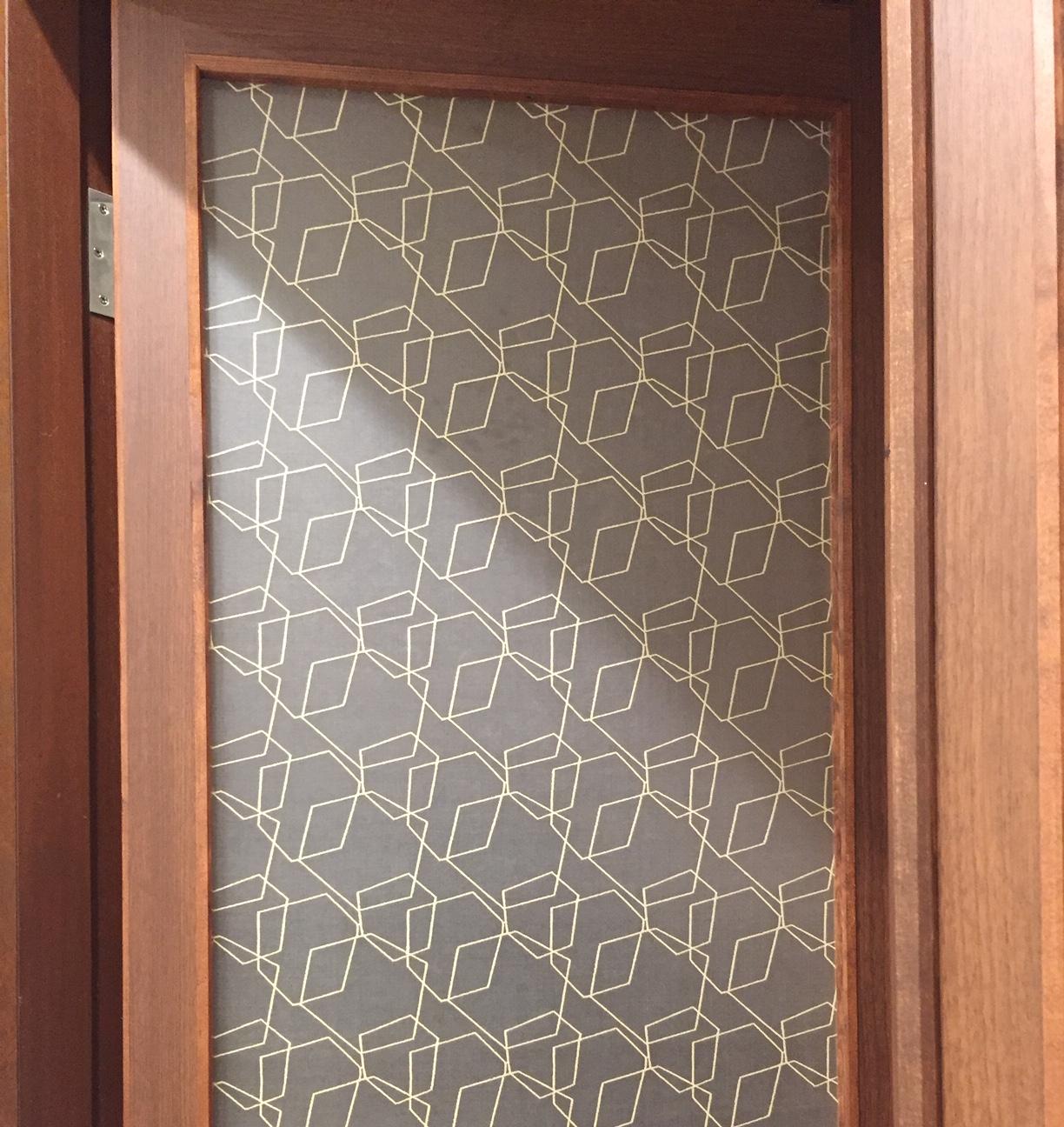 K様個人邸 絹障子 親子扉 Silk acrylic panels