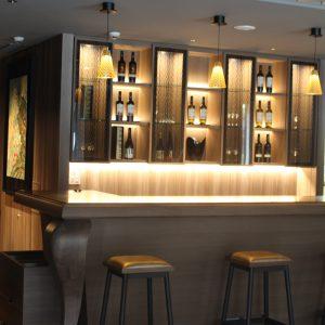 照明により映える絹ガラス ホテルグランバッハ京都御池