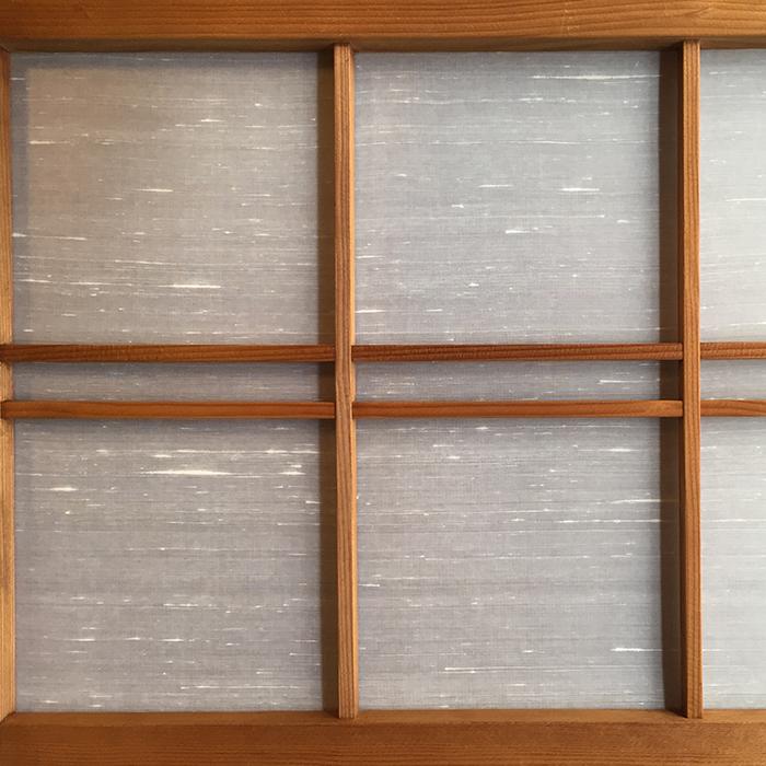 個人邸和室の絹障子 Silk Shade