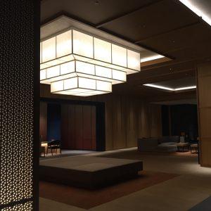 ホテルエミオン京都様で絹障子をロビーに設置