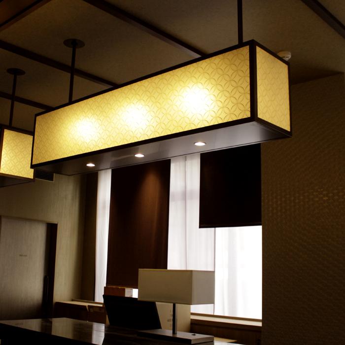 ミュッセ京都名鉄 様<br>Front desk Lightings