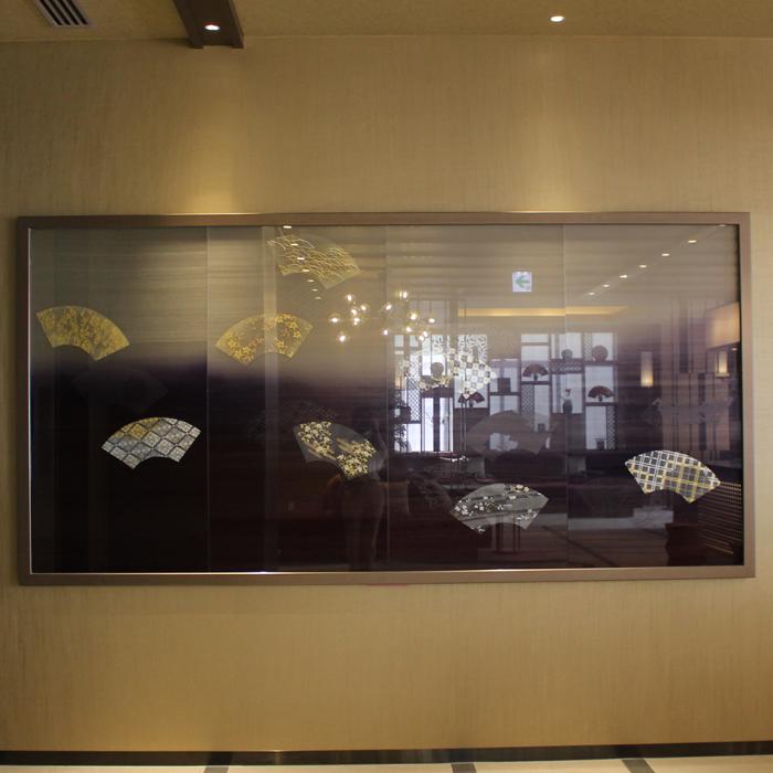 ミュッセ京都名鉄 様 Silk Glass Lobby Panel