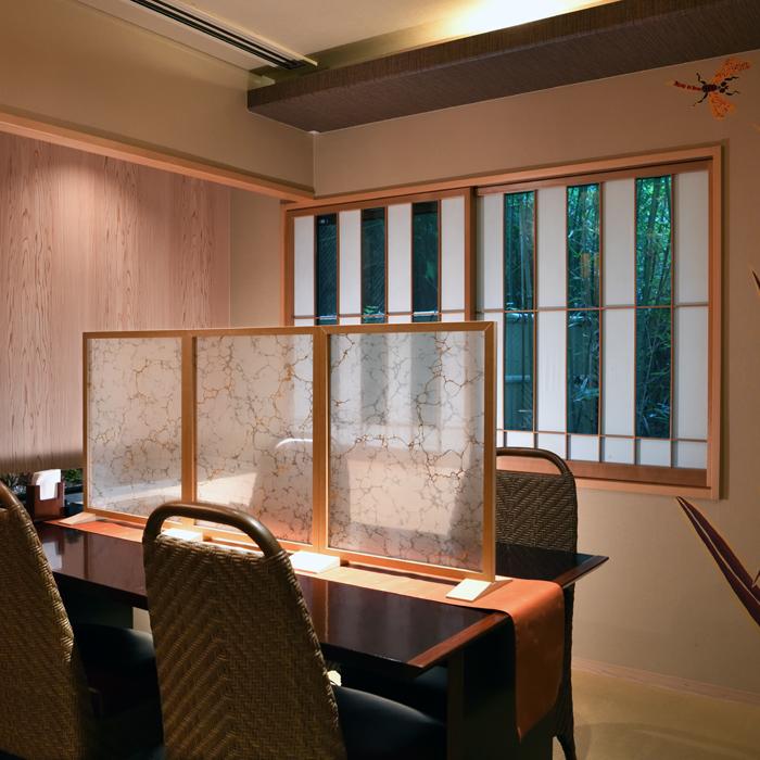 墨流し染め金彩 絹パネル silk fabric panel